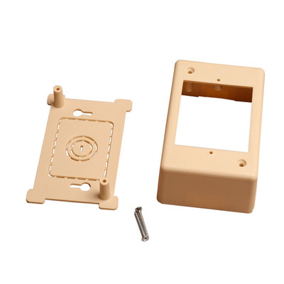 Single Gang Surface Mount Box for Raceways, low voltage, Ivory - Part Number: 31R5-100IV