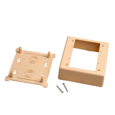 Dual Gang Surface Mount Box for Raceways, low voltage, Ivory - Part Number: 31R5-200IV