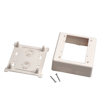 Dual Gang Surface Mount Box for Raceways, low voltage, White - Part Number: 31R5-200WH