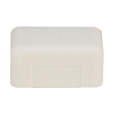 1.75 inch Surface Mount Cable Raceway, Ivory, End Cap - Part Number: 31R3-005IV