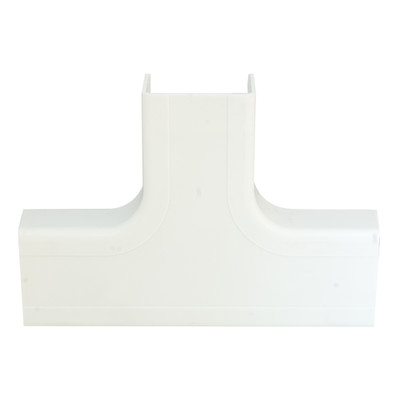 1.25 inch Surface Mount Cable Raceway, White, Tee - Part Number: 31R2-006WH