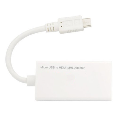 MHL Adapter, Mobile High-Definition Link, Converts Compatible Micro USB Port to HDMI Port - Part Number: 31U2-10101