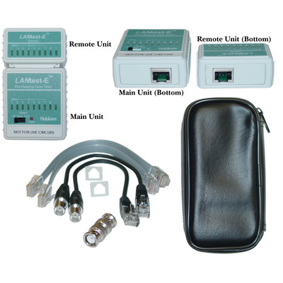 LANtest-E Wire Mapping Cable Tester, Tests Cat5e, Cat6, Cat6a, Coaxial (BNC) and Telephone runs - Part Number: 31X6-08500