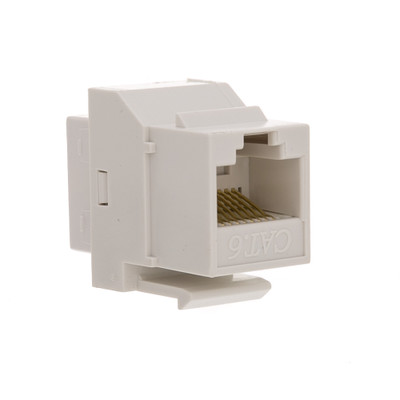 Cat6 Keystone Inline Coupler, White, RJ45 Female - Part Number: 326-220WH