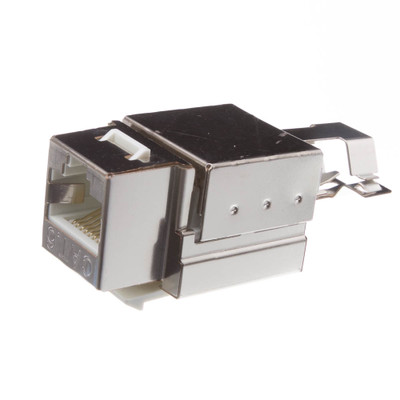 Shielded Cat6 Keystone Jack, RJ45 Female to 110 Punch Down - Part Number: 326-520