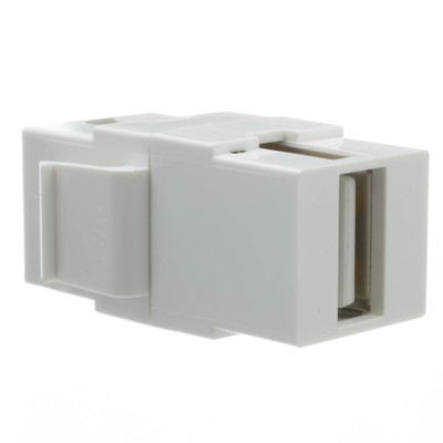 Keystone Insert, White, USB 2.0 Type A Female Coupler - Part Number: 333-320