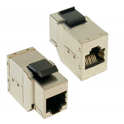 Shielded Cat6a Keystone, In-Line Coupler, RJ45 Female - Part Number: 33X6-50000