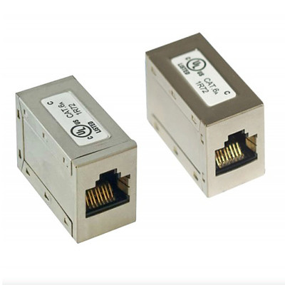 Shielded Cat6a Coupler, RJ45 Female - Part Number: 33X6-52400
