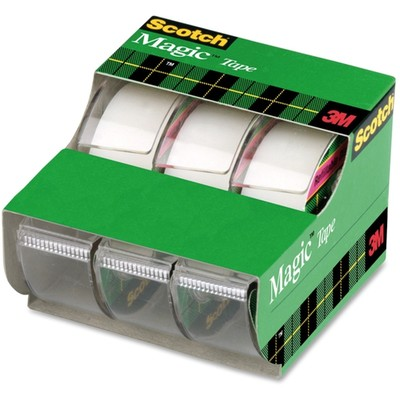 3M Scotch Tape, 3/4 in x 300 in 3/pk - Part Number: 3401-01103
