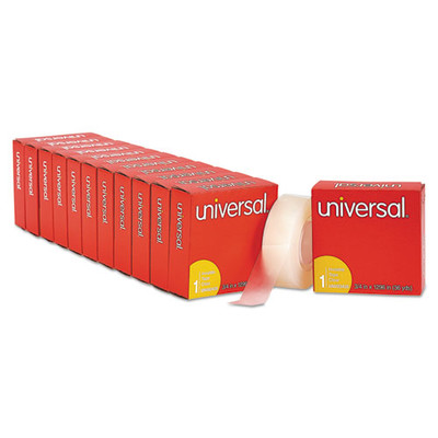 Universal Invisible Tape, 3/4 x 1296 inch, 1-inch Core, Clear, 12/Pack - UNV83436VP - Part Number: 3401-00303