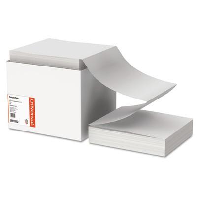 Universal Computer Paper, 20lb, 9.5 x 11, Letter Trim Perforations, White, 2400 Sheets - UNV15802 - Part Number: 3411-00102