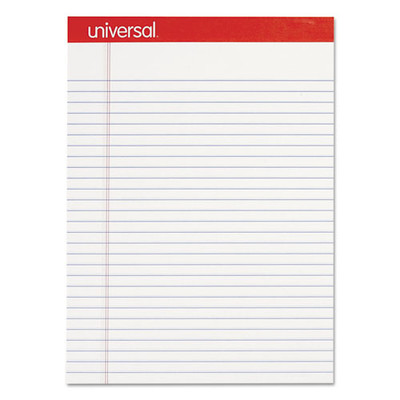 Universal Perforated Ruled Writing Pad, Legal Ruled, Letter, White, 50 Sheet, 12/pack - UNV20630 - Part Number: 3411-01101