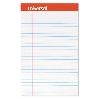 Universal Perforated Ruled Writing Pad, Narrow Rule, 5 x 8, White, 50 Sheet, 12/pack - UNV46300 - Part Number: 3411-01102