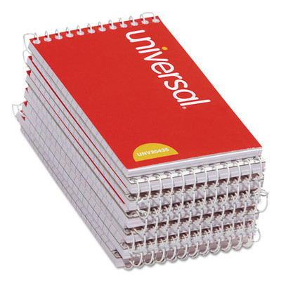 Universal Wirebound Memo Books, Top Bound, Narrow Rule, 5 x 3, 50 Sheets, 12/Pack - UNV20435 - Part Number: 3411-01201