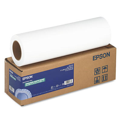 Epson Enhanced Photo Paper, 192 g, Matte, 17-inch x 100ft - S041725 - Part Number: 3411-11104