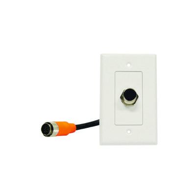 EZ Pull Audio/Video Wall Plate, Orange Male to Orange Female Junction - Part Number: 3500-03100