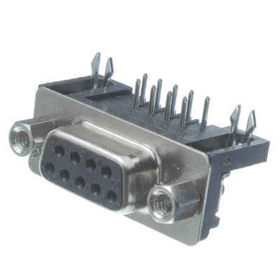 DB9 Right Angle Female Connector, Solder Type - Part Number: 3530-14009