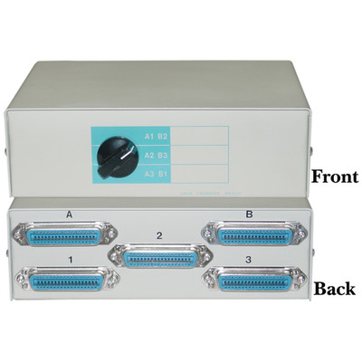 3 In / 2 Out Switch Box, Centronics 36 (CN36) Female - Part Number: 40C1-09602