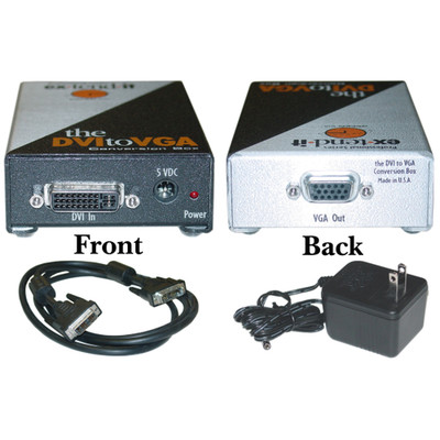 Gefen DVI-D to VGA Converter, Digital to Analog Video, DVI-D Female to HD15 Female - Part Number: 40DV-05300