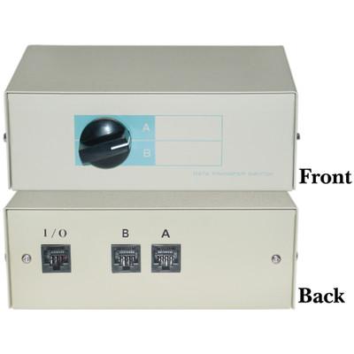2 Way Rj45 Manual Switch Box Ab