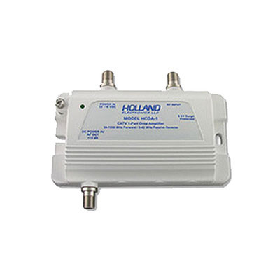 CATV coaxial drop/subscriber amplifier, 1 Port, 1GHz - Part Number: 40X3-10401