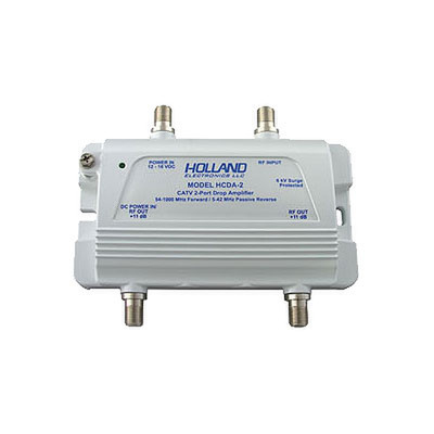 CATV coaxial drop/subscriber amplifier, 2 Port, 1GHz - Part Number: 40X3-10402