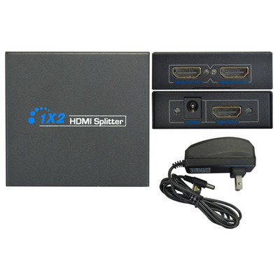 HDMI Splitter, 1 HDMI Female Input x 2 HDMI Female Output, 1x2 - Part Number: 41H1-021HD