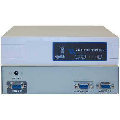 VGA Video Splitter, 1 PC to 2 Monitors, 400MHZ - Part Number: 41H1-14812