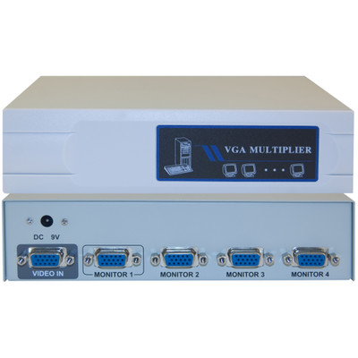 VGA Video Splitter, 1 PC to 4 Monitors, 400MHZ - Part Number: 41H1-14814