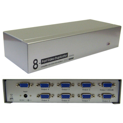 VGA Video Splitter, 1 PC to 8 Monitors, 450MHZ - Part Number: 41H1-14918