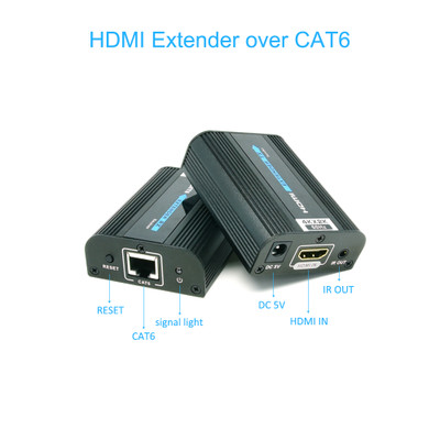 4K@60Hz HDMI Extender over Cat6 with Power, Working Distance 60 meter - Part Number: 41V3-28000