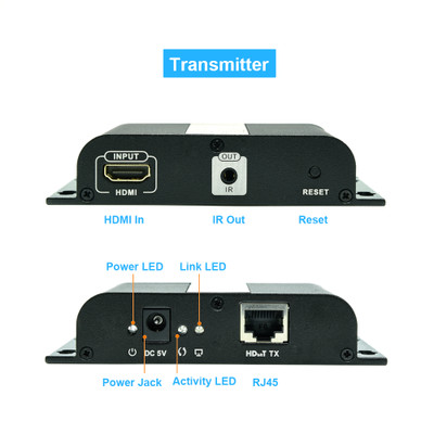 4K HDMI Extender, over Cat6/Local Network with IR return, 120 meter / 390 foot max range - Part Number: 41V3-28100