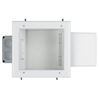 Expandable Media Box with 20 Amp Receptacle, White - Part Number: 45-0052-WH