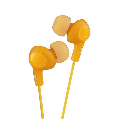 JVC Gumy Plus Inner-Ear Earbuds, Orange - Part Number: 5002-102OR
