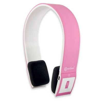 Bluetooth Wireless Headset with Microphone, Pink, Bluetooth v2.1 + EDR, 10 meter/33 foot Range - Part Number: 5002-20100PK