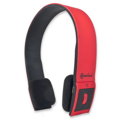 Bluetooth Wireless Headset with Microphone, Red, Bluetooth v2.1 + EDR, 10 meter/33 foot Range - Part Number: 5002-20100RD