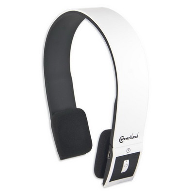 Bluetooth Wireless Headset with Microphone, White, Bluetooth v2.1 + EDR, 10 meter/33 foot Range - Part Number: 5002-20100WH