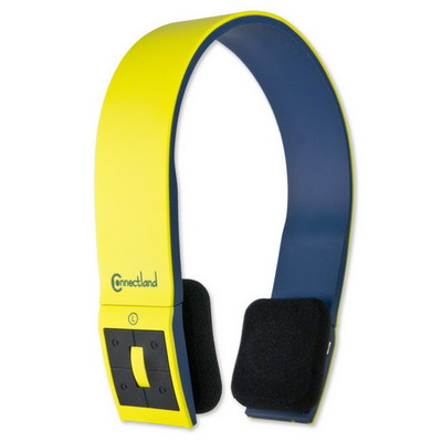 Bluetooth Wireless Headset with Microphone, Yellow, Bluetooth v2.1 + EDR, 10 meter/33 foot Range - Part Number: 5002-20100YL