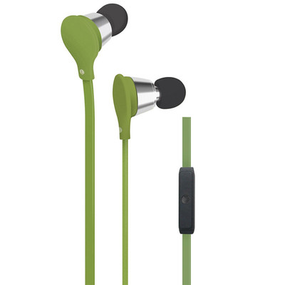 AT&T Jive Earbuds w/ Microphone, Green - Part Number: 5002-502GR