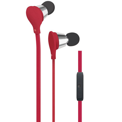 AT&T Jive Earbuds w/ Microphone, Red - Part Number: 5002-502RD