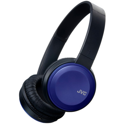 JVC Bluetooth Wireless Headset, includes microphone and phone controls, Blue,  (HA-S190BT) - Part Number: 5002-503BL