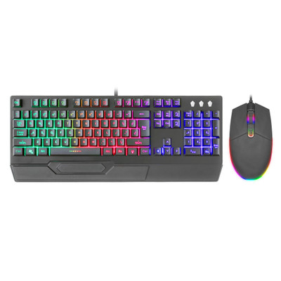Gaming RGB LED light up USB Keyboard and Mouse Combo - Part Number: 5012-80105