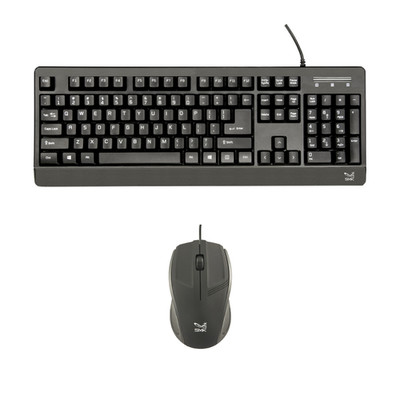 TAA-Compliant Wired USB Keyboard + Mouse,  VP3810 Keyboard, VP3815 Mouse - Part Number: 5012-KB200
