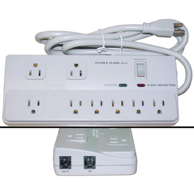 Surge Protector, 8 Outlet, Professional with Fax Modem Protection, Max 2160 Joules, Power Cord 6 foot - Part Number: 51W1-10013M