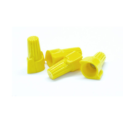 Winged Twist Wire Connectors, Yellow, 10 AWG - 18 AWG, 10mm, 100 Pieces - Part Number: 55TS-10100