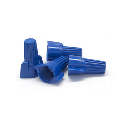 Blue Twist Wire Connectors, 6 AWG - 14 AWG, 18mm, 100 Pieces - Part Number: 55TS-10300