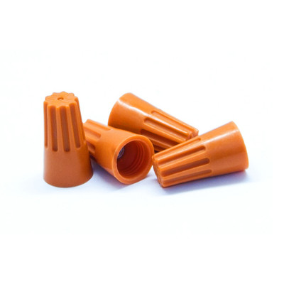 Orange Twist Wire Connectors, 14 AWG - 22 AWG, 9mm, 100 Pieces - Part Number: 55TS-20200