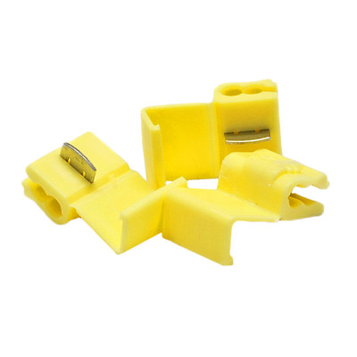 Quick Splice Connector, Yellow, 10 AWG - 12 AWG, 100 Pieces - Part Number: 55TS-30300