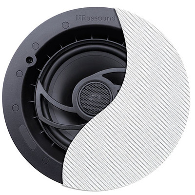 6.5 inch 2-Way High Performance Ceiling Speaker with Designer Edgeless Grille (2-pack) - Part Number: 60HT-10100