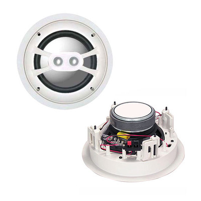 6 inch 2-way Ceiling Speaker, 80W max, 8 ohm, Single Speaker - Part Number: 60HT-10106